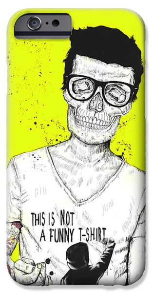 Skull iPhone Cases - Hipsters Not Dead iPhone Case by Balazs Solti