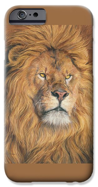 Lion iPhone Cases - His Majesty - Detail iPhone Case by Lucie Bilodeau