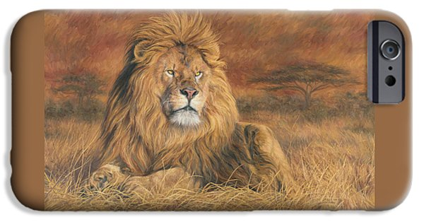 Lion iPhone Cases - His Majesty iPhone Case by Lucie Bilodeau