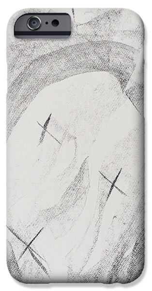 Son Of God Drawings iPhone Cases - His Sign iPhone Case by Arthur Right