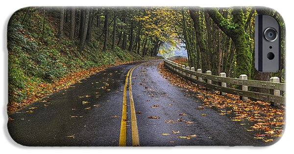 Scenic Drive iPhone Cases - Historic Columbia River Highway iPhone Case by Mark Kiver