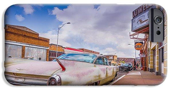 Asphalt iPhone Cases - Historic Downtown 3 iPhone Case by Jon Manjeot