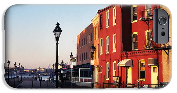Fletcher iPhone Cases - Historic Fells Point iPhone Case by Thomas R Fletcher