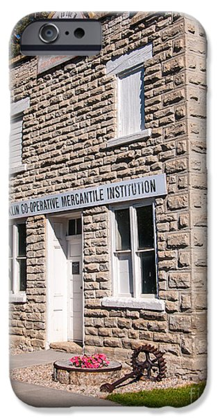 Franklin iPhone Cases - Historic Franklin Co-Operative Mercantile Institution - Idaho  iPhone Case by Gary Whitton