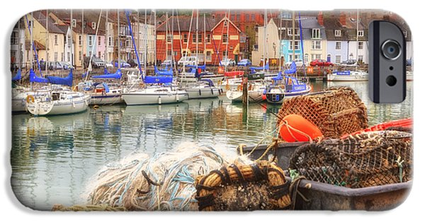 Historic England iPhone Cases - historic harbour Weymouth iPhone Case by Joana Kruse