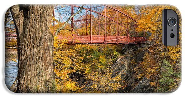 Litchfield County Landscape iPhone Cases - Historic Lovers Leap Bridge iPhone Case by Bill  Wakeley