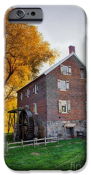 Grist Mill iPhone Cases - Historic Mill - Kerr Mill I iPhone Case by Dan Carmichael
