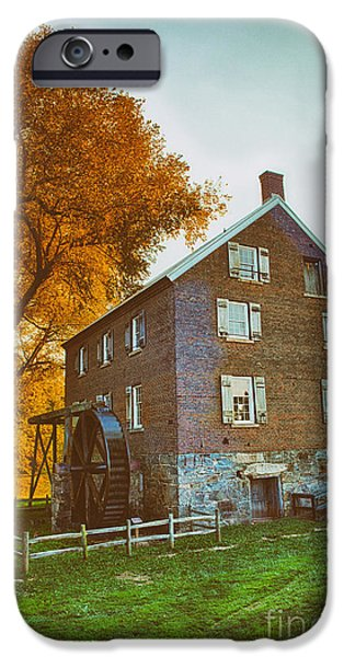 Grist Mill iPhone Cases - Historic Mill - Kerr Mill II iPhone Case by Dan Carmichael