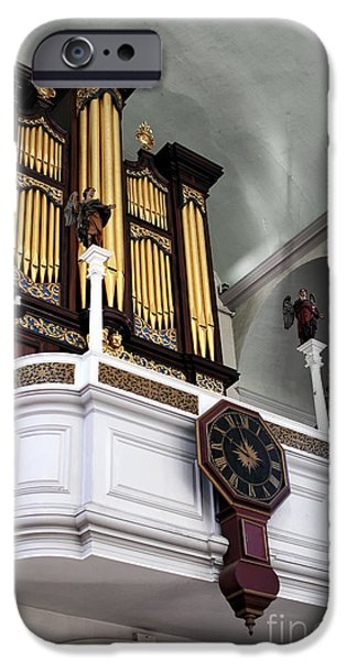 Boston Ma iPhone Cases - Historic Organ iPhone Case by John Rizzuto