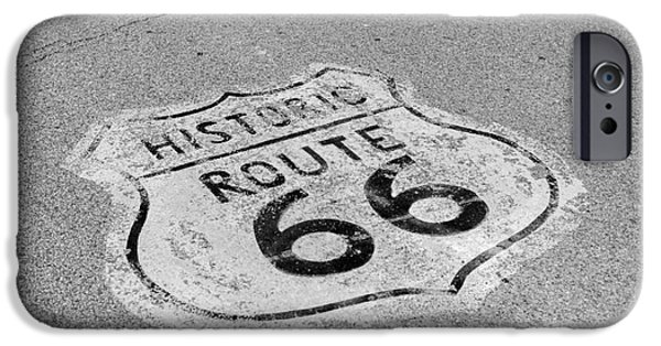 Kaypickens.com iPhone Cases - Historic Route 66 iPhone Case by Kay Pickens