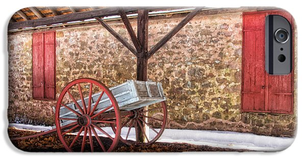 Restored Plantation iPhone Cases - Historic storage shed iPhone Case by Carolyn Derstine