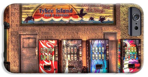 Tybee Island Pier iPhone Cases - Historic Tybee Island Pier and Pavilion iPhone Case by Reid Callaway