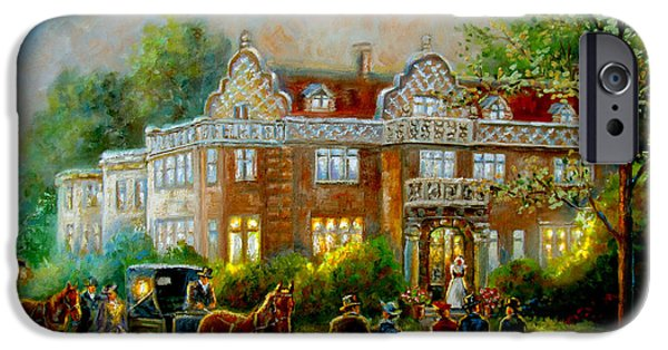 Indiana Scenes iPhone Cases - Historical architecture Indiana Baker house mansion  iPhone Case by Gina Femrite