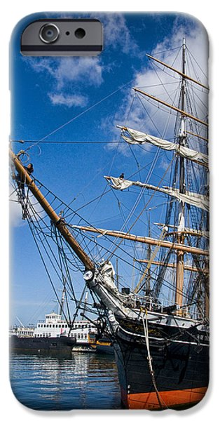 Pirate Ship iPhone Cases - Historical Boat The Star of India iPhone Case by Randall Nyhof