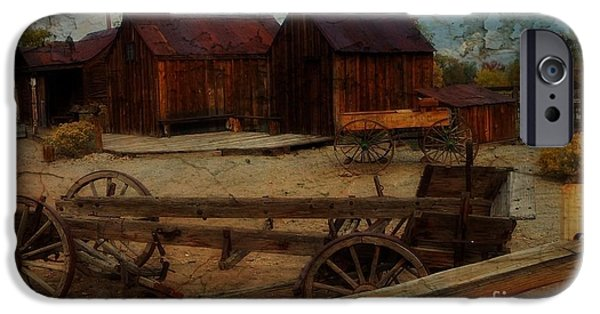 Matting iPhone Cases - Historical Ferretto Ranch iPhone Case by Bobbee Rickard