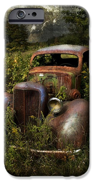 Old Cars iPhone Cases - Historical Journey iPhone Case by Evie Carrier