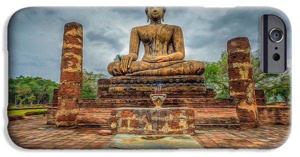 Buddhism iPhone Cases - Historical Park iPhone Case by Adrian Evans