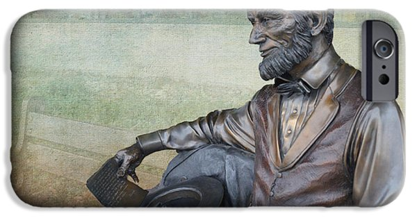 President iPhone Cases - History - Abraham Lincoln Contemplates -  Luther Fine Art iPhone Case by Luther   Fine Art
