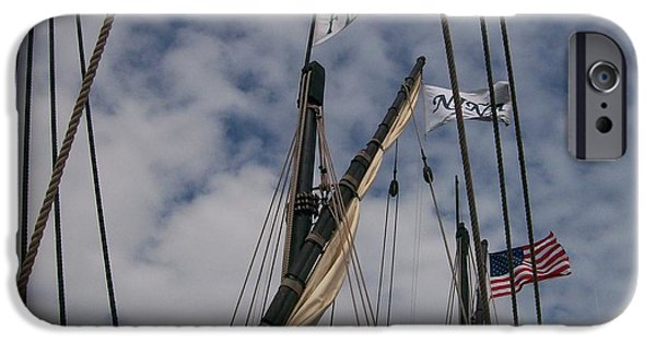 Flag Pyrography iPhone Cases - History Flying Strong iPhone Case by Roxanne Butler