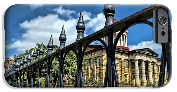 President iPhone Cases - History -  Illinois Old Capitol Building2 - Luther Fine Art iPhone Case by Luther  Fine Art
