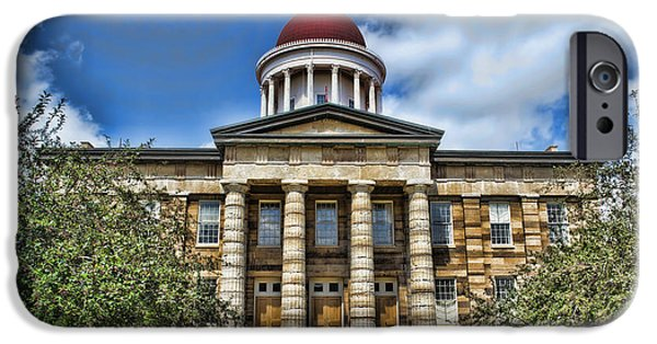 President iPhone Cases - History -  Illinois Old Capitol Building3 -  Luther Fine Art iPhone Case by Luther Fine Art