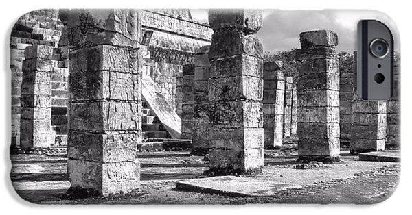 Historic Site iPhone Cases - History in Black and White iPhone Case by Jenny Hudson