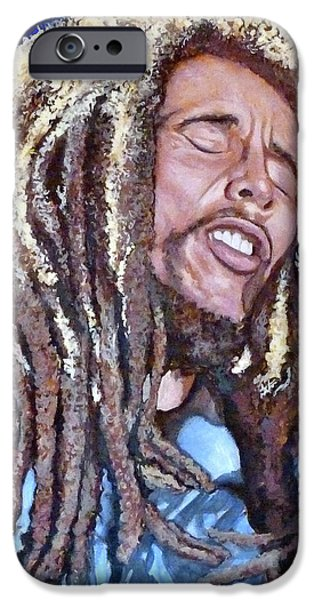 Reggae Music Art iPhone Cases - Hit Me with Music iPhone Case by Tom Roderick