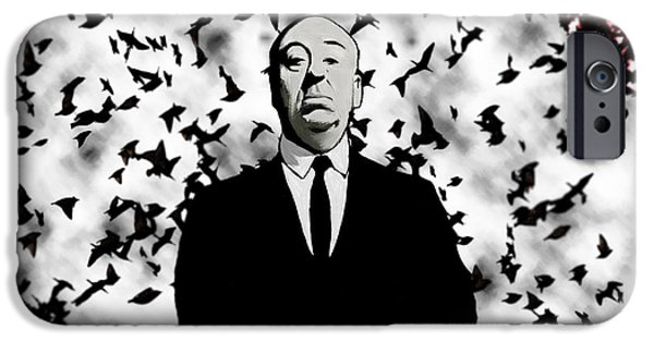 Film Maker iPhone Cases - Hitchcock iPhone Case by Jeff DOttavio