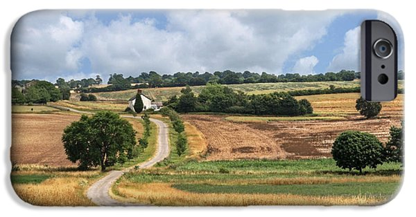 Harvest Time iPhone Cases - The Long Winding Road  iPhone Case by Gill Billington