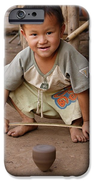 Village iPhone Cases - Hmong Boy iPhone Case by Adam Romanowicz