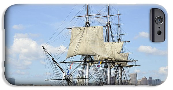 Constitution iPhone Cases - Hms Guerriere In The Boston Harbor iPhone Case by Stocktrek Images