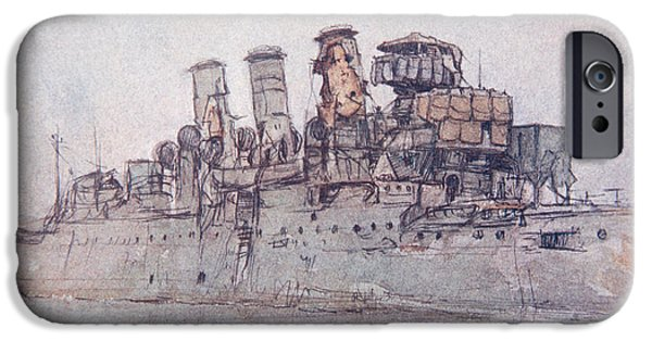 Wwi iPhone Cases - HMS Vindictive iPhone Case by Donald Maxwell