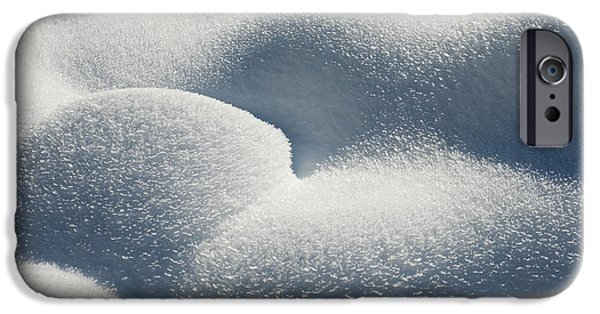 Mounds iPhone Cases - Hoar Frost Crystals iPhone Case by John Shaw