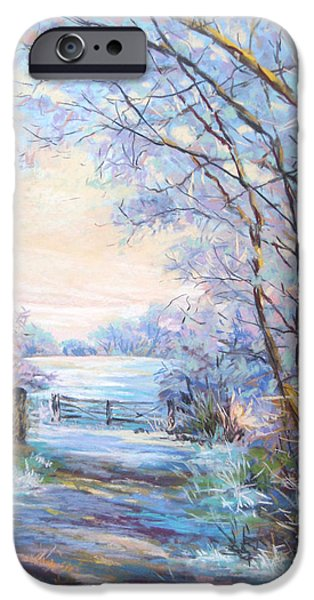 Impressionism Sculptures iPhone Cases - Hoare Frost  iPhone Case by Heather Harman
