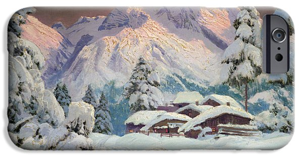 Austria iPhone Cases - Hocheisgruppe iPhone Case by Alwin Arnegger