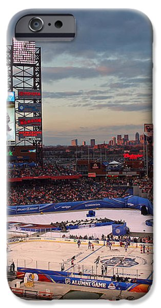 Hockey at the Ballpark iPhone Case by David Rucker