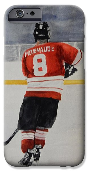 Hockey Paintings iPhone Cases - Hockey Passion iPhone Case by Betty-Anne McDonald