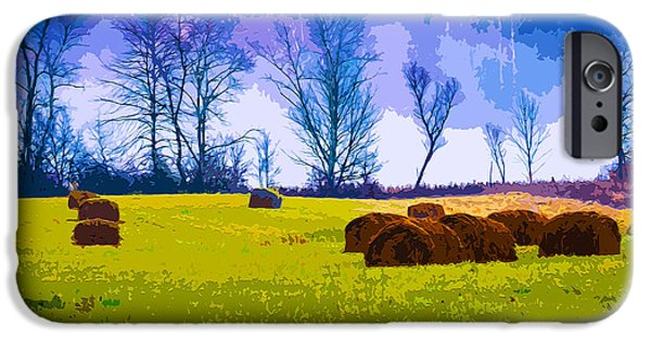 Haybale Mixed Media iPhone Cases - Hocking Hills 10 iPhone Case by Brian Stevens