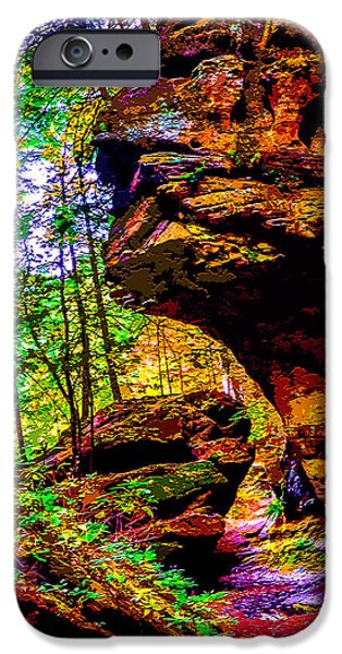Ledge Mixed Media iPhone Cases - Hocking Hills Sphinx Head iPhone Case by Brian Stevens