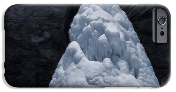 Water In Caves iPhone Cases - Hocking Hills State Park In Winter iPhone Case by Dan Sproul