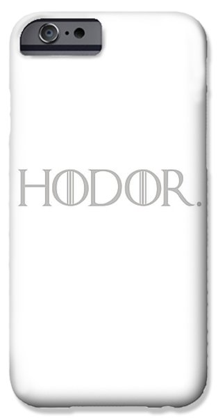 Hierarchy iPhone Cases - Hodor iPhone Case by Nomad Art And  Design