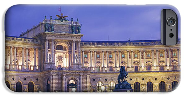 Palatial iPhone Cases - Hofburg Imperial Palace, Heldenplatz iPhone Case by Panoramic Images