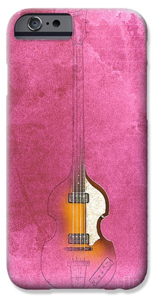 Hofner iPhone Cases - Hofner Bass - Paul McCartney Bass iPhone Case by Pablo Franchi
