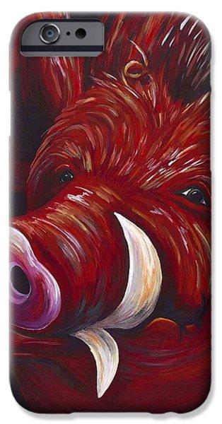 Hog Fan iPhone Case by Shawna Elliott