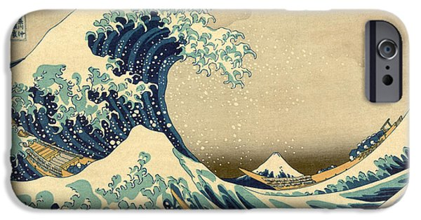 Antiques iPhone Cases - Hogasi Wave iPhone Case by Gary Grayson