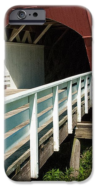 Hogback Bridge Madison County Iowa iPhone Case by Robert Ford