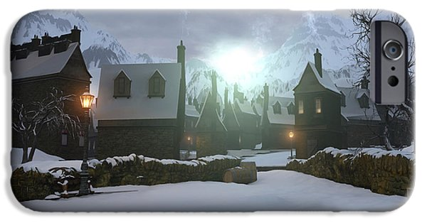 Hogwarts iPhone Cases - Hogsmeade iPhone Case by Cynthia Decker