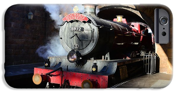 Hogwarts iPhone Cases - The Hogwarts Express is here iPhone Case by David Lee Thompson