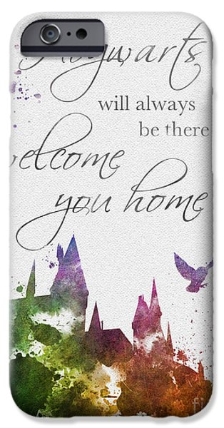 Hogwarts iPhone Cases - Hogwarts will welcome you home iPhone Case by Rebecca Jenkins
