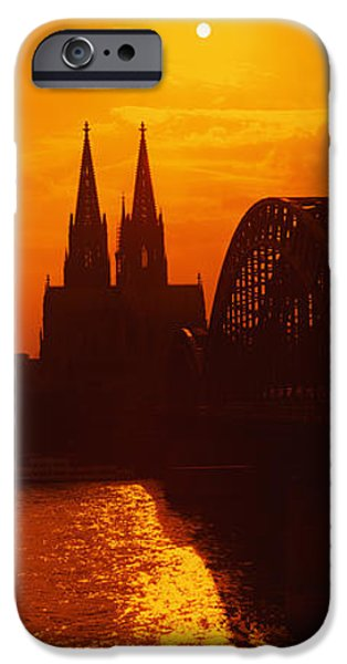 Reflection In Water iPhone Cases - Hohenzollern Bridge, Cologne, Germany iPhone Case by Panoramic Images
